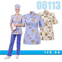 Collection of medical clothes for pediatricians