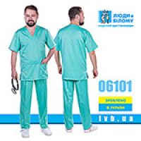 Scrubs set light green color 06101