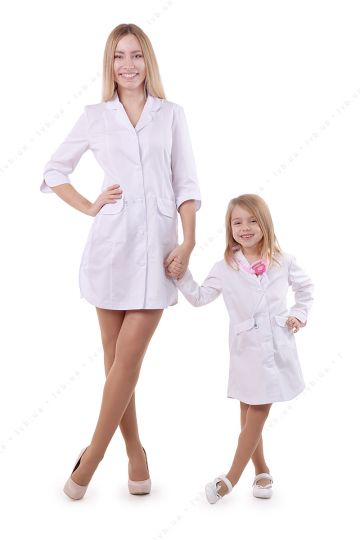 Set of lab coats for mom and daughter